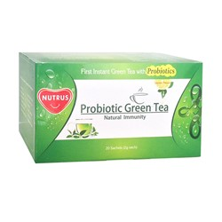 Picture of Nutrus Probiotic Green Tea Lemon Flavour (20 Sachets) - Box
