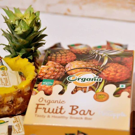 Picture of Organa Pineapple Fruit Bar - Box