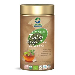 Picture of Organic Tulsi Green Tea online | OW' Real Tulsi Green Tea Classic Tin - 100gm