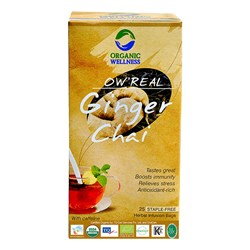 Picture of Organic Ginger Tea online | OW' Real Ginger Chai- 25 Tea Bag Box