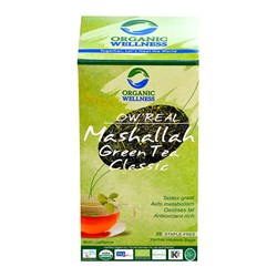 Picture of Organic Masala Green Tea online | OW' Real Mashalla Green Tea Classic- 25 Tea Bag Box
