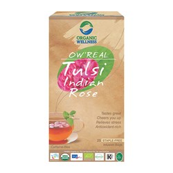 Picture of Organic Tulsi Indian Rose Tea online | OW' Real Tulsi Indian Rose - 25 Tea Bag Box
