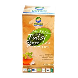 Picture of Organic Tulsi Green Tea online | OW' Real Tulsi Green Tea Premium- 25 Tea Bag Box