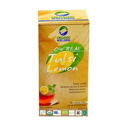 Picture of Organic Tulsi Lemon Tea online | OW' Real Tulsi Lemon - 25 Tea Bag Box