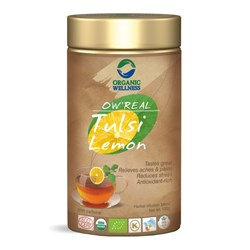 Picture of Organic Tulsi Lemon Tea online | OW' Real Tulsi Lemon Tin - 100gm