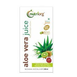 Picture of Organic Aloe Vera Juice With Kiwi Flavour 500ml - Nutriorg