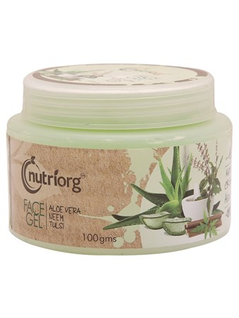 Picture of Organic Face Gel (Aloevera, Neem, Tulsi ) 100 g- Nutriorg