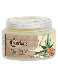 Picture of Organic Face Gel (Aloevera, Turmeric,  Sandal ) 100 g - Nutriorg